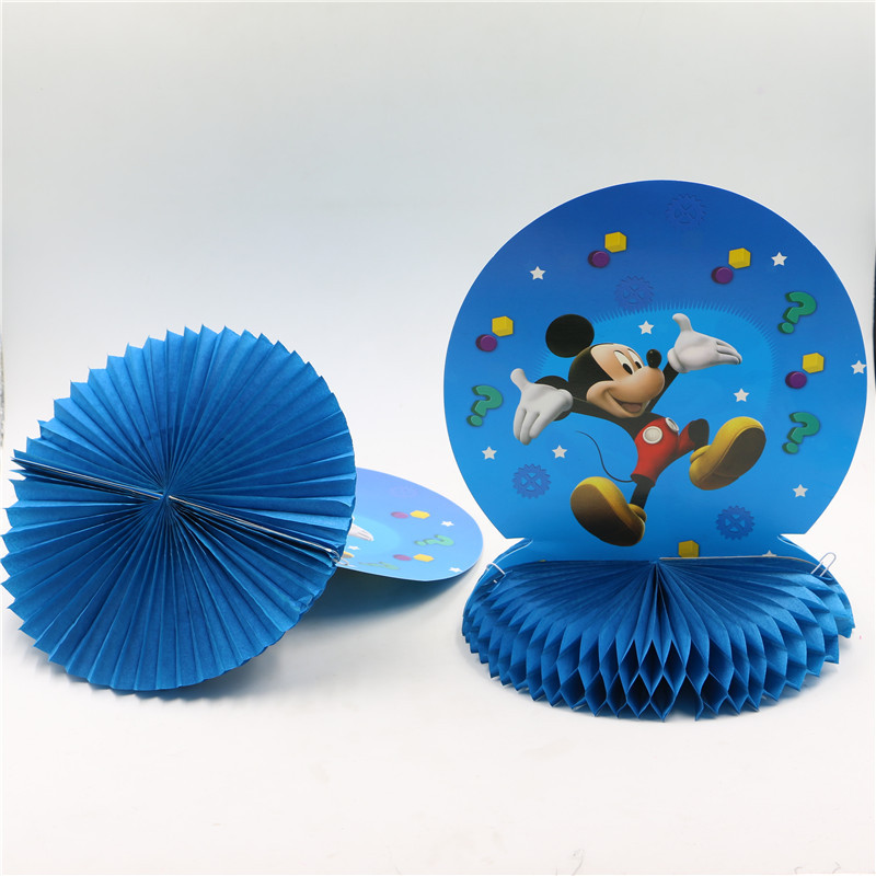 Centros de mesa de nido de abeja de dibujos animados de Mickey mouse birthday su