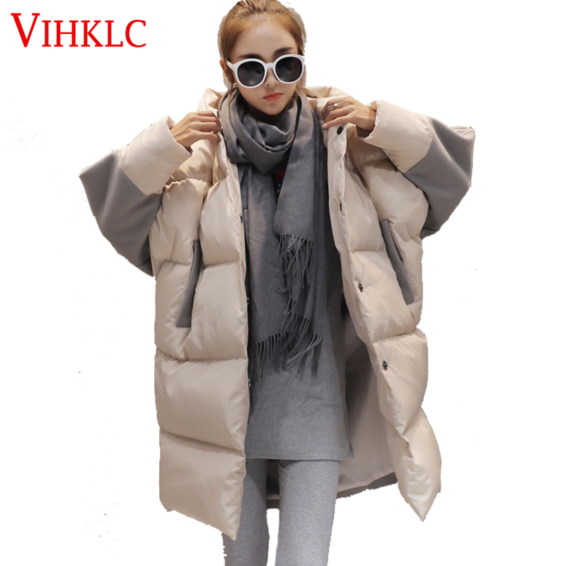 2016 Winter New Fashion Korean Women Coats Thickening Hooded Parkas Long Cotton Down Jacket Warm Snow Outwear Overcoat D174