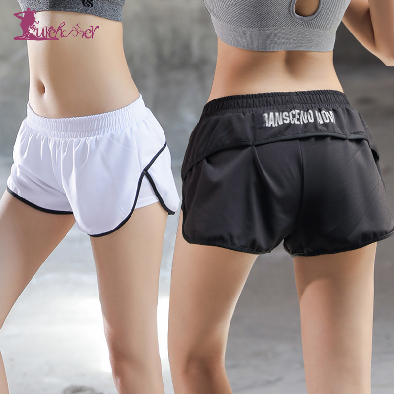 Lurehooker Women Breathable Solid Yoga Shorts Female Fitness Running Shorts Quick Dry Polyester Sports Shorts for Womens