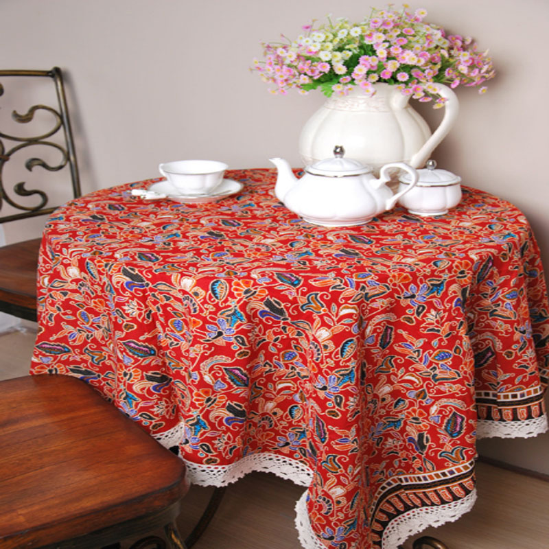 Fashion Joyous Printed Rectangle Tablecloth Washable Wear Resistant Home Parlor Kitchen Decor Cotton Linen Party,Banquet Supplie