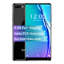 Oukitel MIX 2 5.99″ 18:9 Screen 4G Smart Phone Octa Core 6GB +64GB 21MP+13MP Camera 9V/2A Quick Charger 4080mAh Mobile Phone