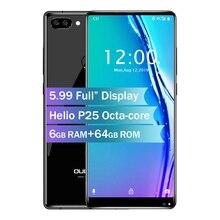 Oukitel MIX 2 5,99 «18:9 экран 4G смартфон Восьмиядерный 6 ГБ + 64 ГБ 21 Мп + 13 МП камера 9 В/2A быстрое зарядное устройство 4080 мАч мобильный телефон
