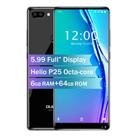 Oukitel MIX 2 5.99 18:9 Screen 4G Smart Phone Octa Core 6GB +64GB 21MP+13MP Camera 9V/2A Quick Charger 4080mAh Mobile Phone