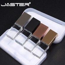 JASTER модный Кристальный USB флэш-накопитель Пользовательский логотип cle USB 2,0 4 ГБ 8 ГБ 16 ГБ 32 ГБ 64 Гб свадебный подарок (более 10 шт бесплатный логотип)