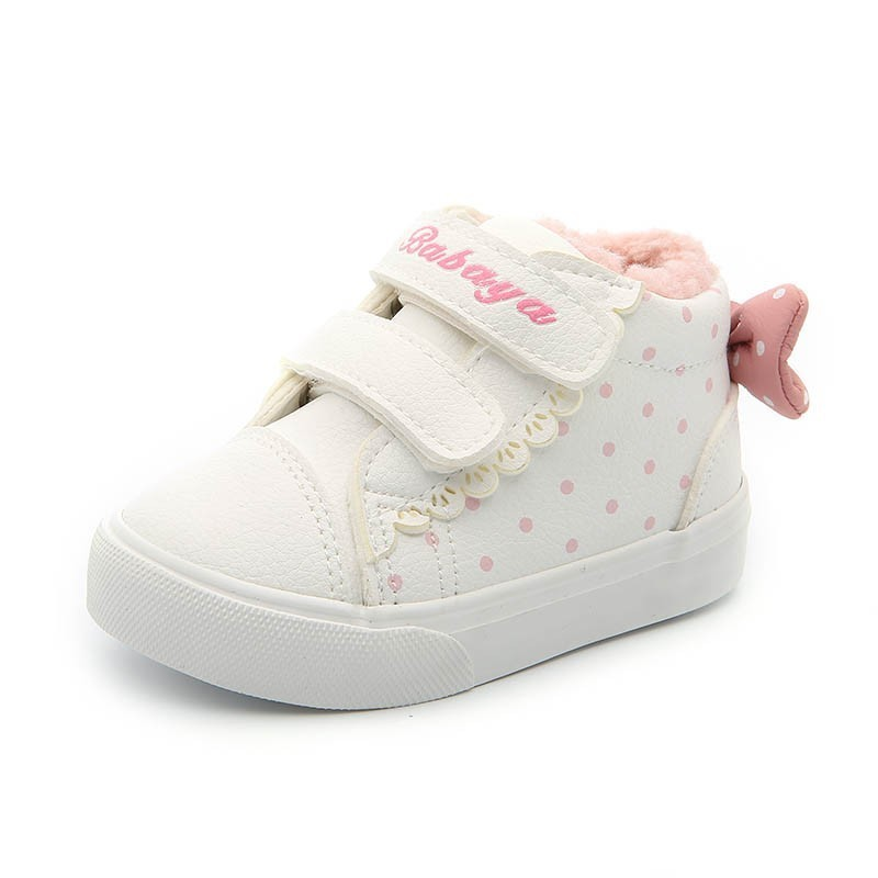 Image 4 - Children Shoes Girl 2018 Winter New Increase Down Thickening Casual Shoes Protect Warm Winter Snowfield Cotton Boots-in Sneakers from Mother & Kids