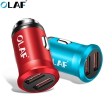 OLAF Mini Car USB Charger For Samsung Phone Tablet Fast Charging Car-ch