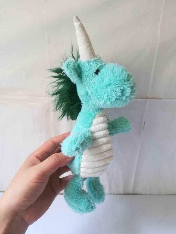 Новые творческие плюшевая игрушка единорог фаршированные милая зеленая Единорог кукла подарок около 28 см