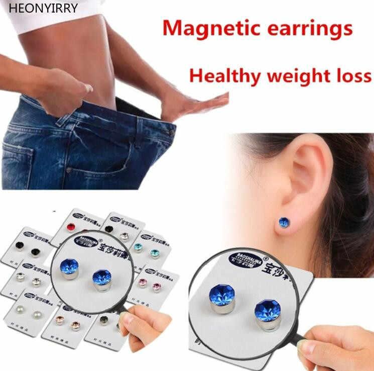 1 пара Магнитные серьги для похудения пластырь для похудания Похудение Магнитная здоровья ювелирный магнит из ленивая паста пластырь доступа