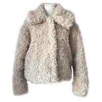 Wholesale Faux Curly Lamb Fur Coat Women's Winter Jacket