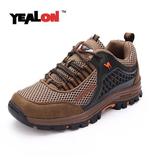 YEALON Men Hiking Shoes Outdoor Camel Mountain Women Waterproof Sneakers Shoes  Trekking Shoes Men Sports Erkek Outdoor Ayakkabi 9898f8b36d