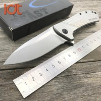LDT 0801 Tactical Folding Knife D2 Blade Steel Handle Bearig Flipper Hunting Camping OEM Knives Outdoor
