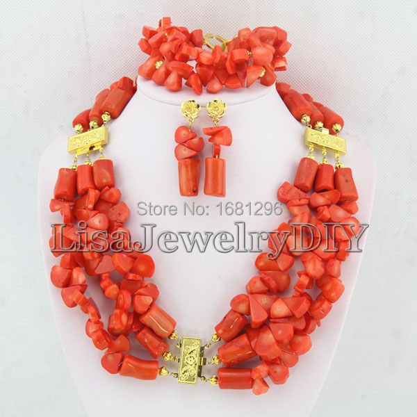 High Quality African Coral Beads Jewelry Sets Nigerian Wedding African Bridal Jewelry Sets     HD0315High Quality African Coral Beads Jewelry Sets Nigerian Wedding African Bridal Jewelry Sets     HD0315