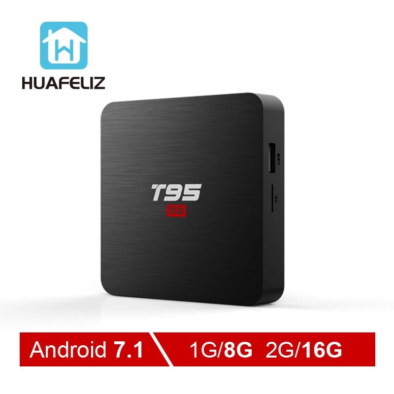 Smart tv box t95 s2 nero android wifi 4k hd 3d | eBay