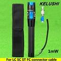 KELUSHI 1 mW 3 ~ 5 km FTTH Fibra Óptica Visual Fault Locator Cable De Fibra Óptica fuente de luz de láser rojo VFL probador LC/FC/SC/ST Adaptador