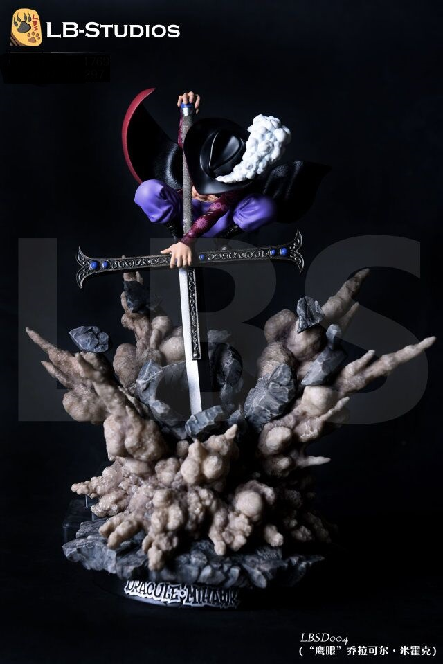 MODEL FANS INSTOCK LBS One Piece 38cm SD Dracule Mihawk gk resin toy Figure for Collection anime one piece dracule mihawk pvc action figure collection toy 22cm height big one models