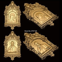 2pcs Religious Theme 3d Model STL Relief For Cnc STL Format Religious Relief Model STL Router
