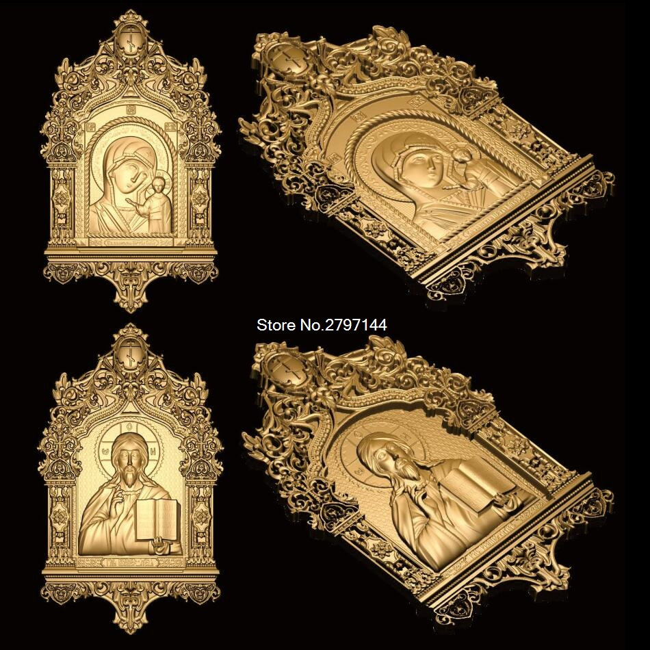 2pcs religious theme 3d model STL relief for cnc STL format religious Relief Model STL Router  Engraver ArtCam martyrs faith hope and love and their mother sophia 3d model relief figure stl format religion for cnc in stl file format