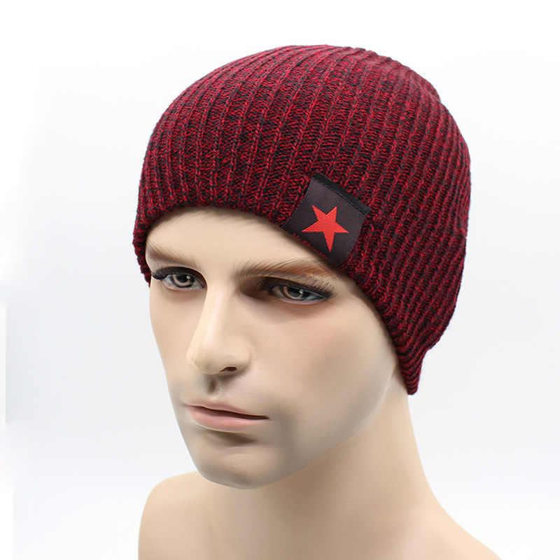 e5863325f 2018 Warm Winter Beanies For Men Knit Hat Men's Winter Hats For Men Brand  Bonnet Beanie Skullies Wool Warm Baggy Balaclava Caps