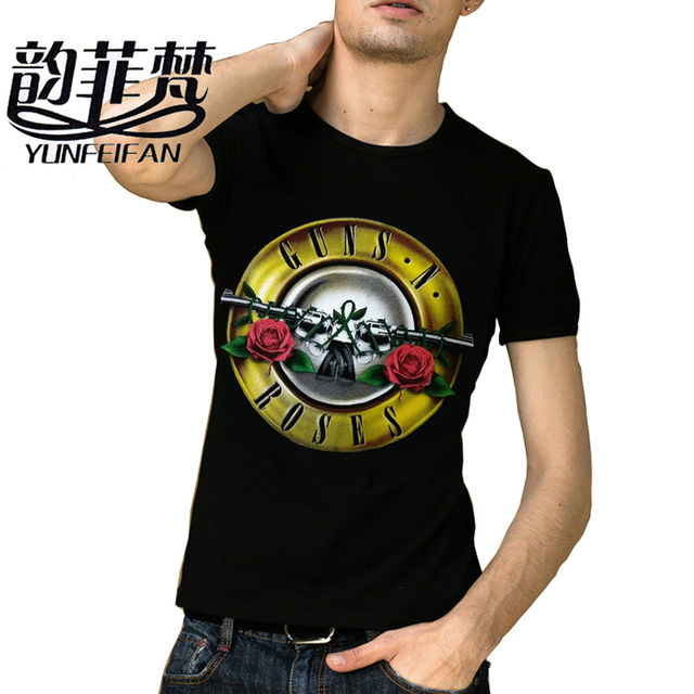 c7a4a38fc84 Men T shirt GUNS N ROSE 2018 Shirt Mens Short Sleeve Cotton T-Shirt GUNS  and Rose T Shirts Plus Size S-XXXL