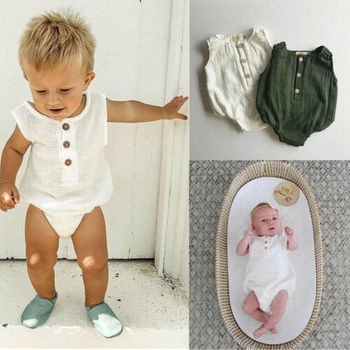 newborn infant baby boy wedding formal suit bowtie gentleman romper outfit 0 24m 0-24M Newborn Cotton Linen Romper Baby Boy Girl Sleeveless Solid Romper Infant Toddler Outfit Sunsuit Clothes