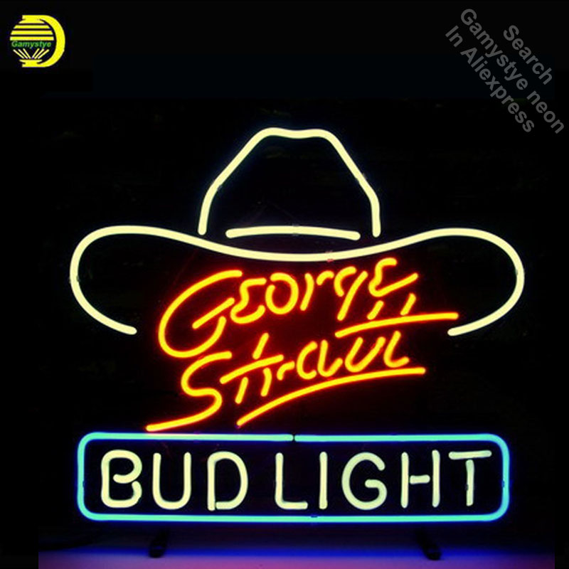 George Strait Bud Light Neon Sign neon bulb Sign Glass Tube neon lights Recreation Iconic vintage Sign Advertise personalizedGeorge Strait Bud Light Neon Sign neon bulb Sign Glass Tube neon lights Recreation Iconic vintage Sign Advertise personalized