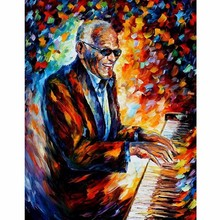 Hand Painted Landscape Abstract Ray Charles art Palette Knife Modern Oil Painting Canvas Art Living Room hallway Artwork Fine ray charles ray charles what d i say 180 gr