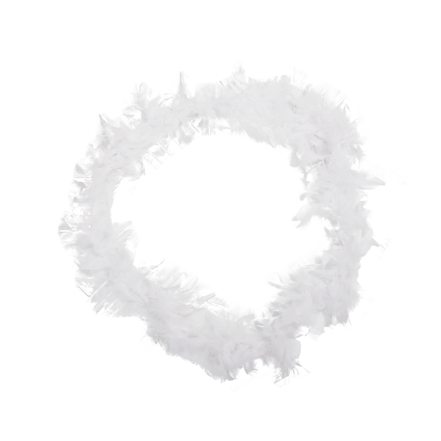 MAKE Hot White Feather Boa Fluffy Craft Decoration 6.6 Feet Long