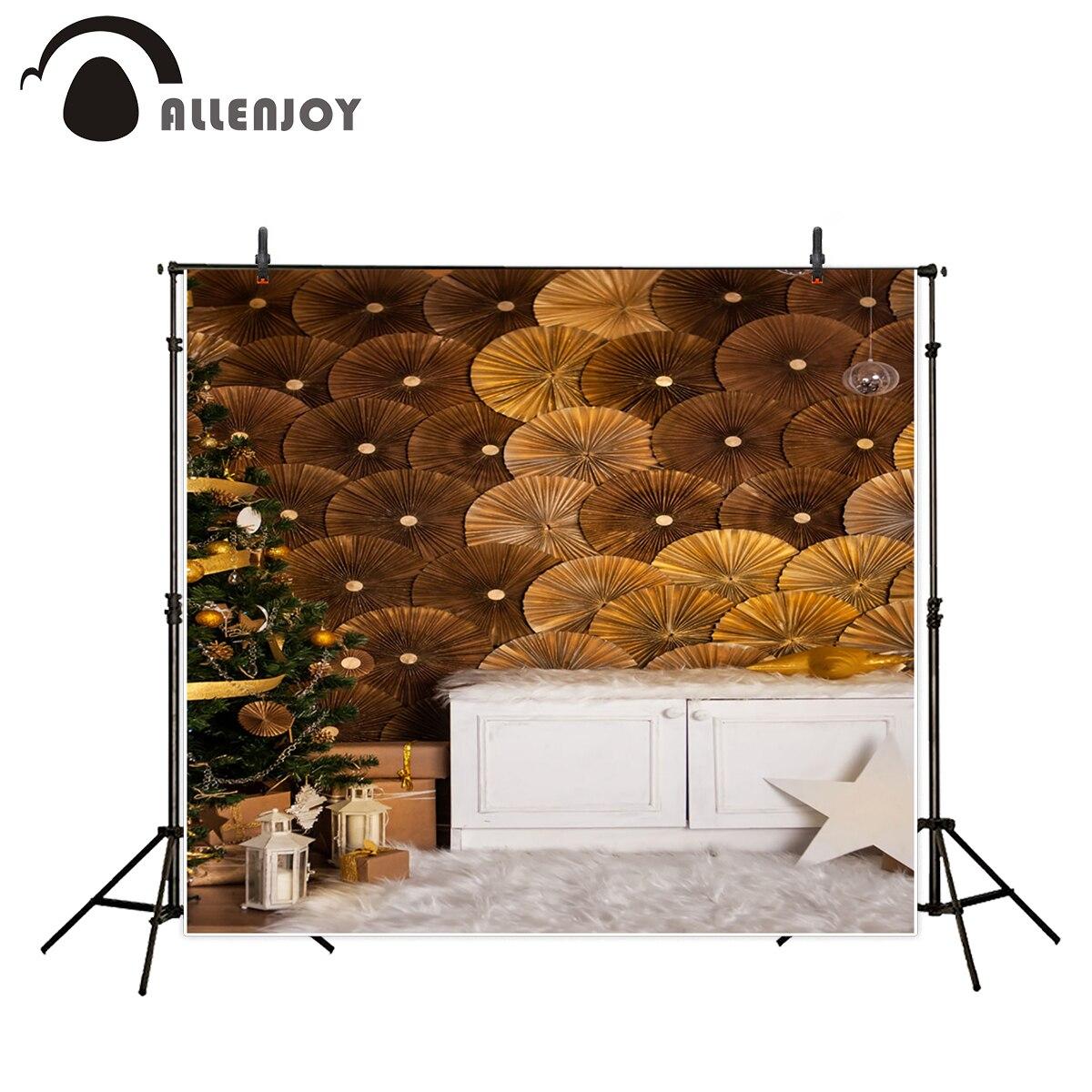 Allenjoy photography backdrops Christmas background Golden Origami flowers Background for children White Carpet for kids