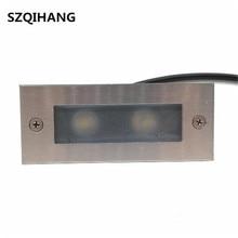 Открытый 3 Вт 6 Вт светодио дный шаг света IP68 в алюминиевой оправе лестницы углу светильника Водонепроницаемый встраиваемые стены лестница лампа Footlight