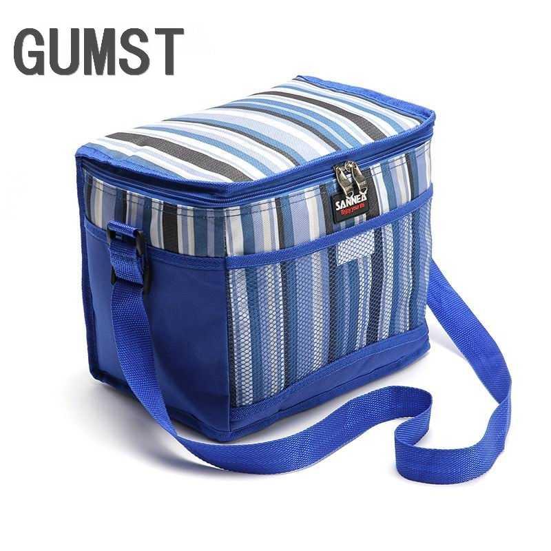 GUMST 10.5L Thermo Paquete de comida grande bolsa de almuerzo bandolera para mujer almacenamiento en frío bolsa de hombro para llevar
