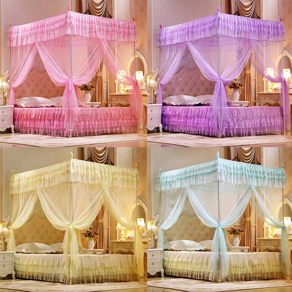 Full Double Bed Three Door Open Princess Mosquito Net Double Bed Curtains Sleeping Curtain Bed Canopy Net Full Queen King