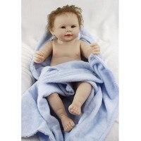 Full Silicone Vinyl Realistic Newborn Baby Doll Real Vinyl Dolls 22inch Reborn Babies Boy can Bathe in Water Juguetes Brinquedos