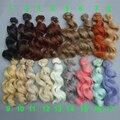 Бесплатная доставка, термостойкие кукольные волосы 15 см для 1/3 1/4 1/6 BJD diy парики с волнистыми волосами для куклы