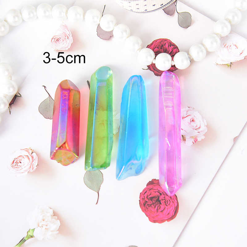1Pc Multi Color Stone Natural Rough Crystal Quartz Crystal Healing Stone Specimen Minerals for Fish Tank Home Gift Decorative