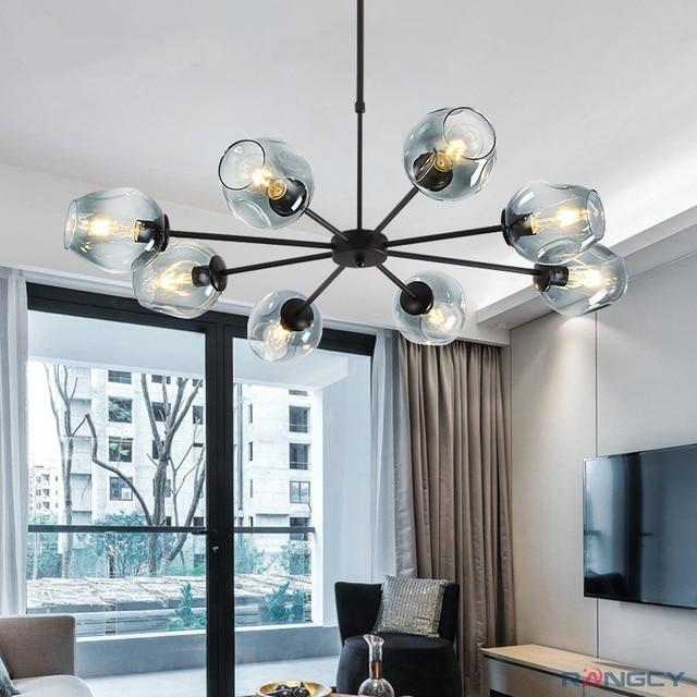 Modern Glass Pendant Light Nordic Dining Room Kitchen Designer Hanging Lamps Avize Lustre Lighting E27