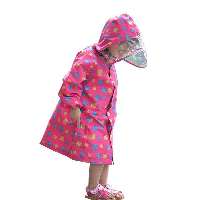 FreeSmily סגנון מעיל גשם לילדים ילדים סטודנטים בלתי חדיר עמיד למים בנים בנות ילד גשם מעיל שכמיות מעילים
