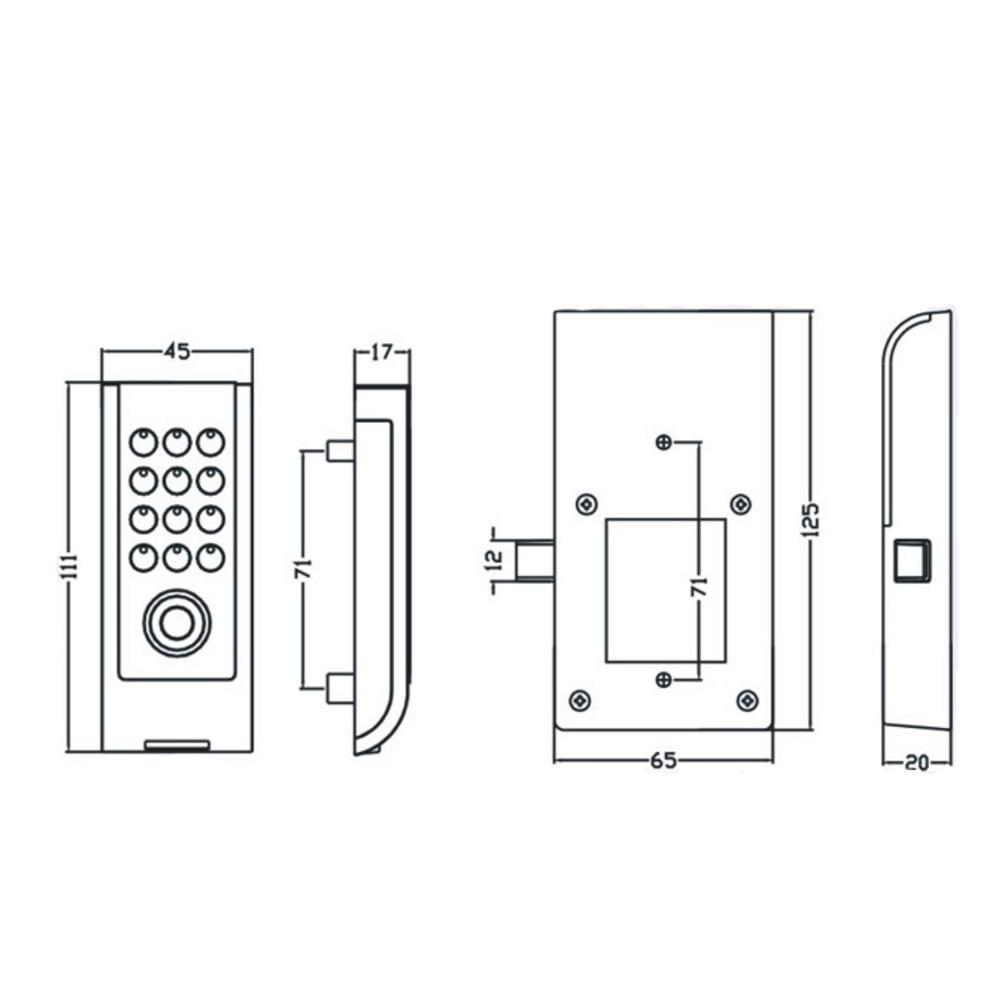 Метална обвивка Клавиатура Парола TM - Сигурност и защита - Снимка 4