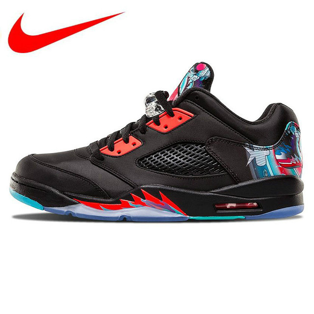 the latest 53270 dcfa0 US $329.0 |Original Nike Air Jordan 5 Retro Low CNY Chinese Kite Men  Basketball Shoes,Outdoor Comfortable Sports Shoes 840475 060-in Basketball  Shoes ...