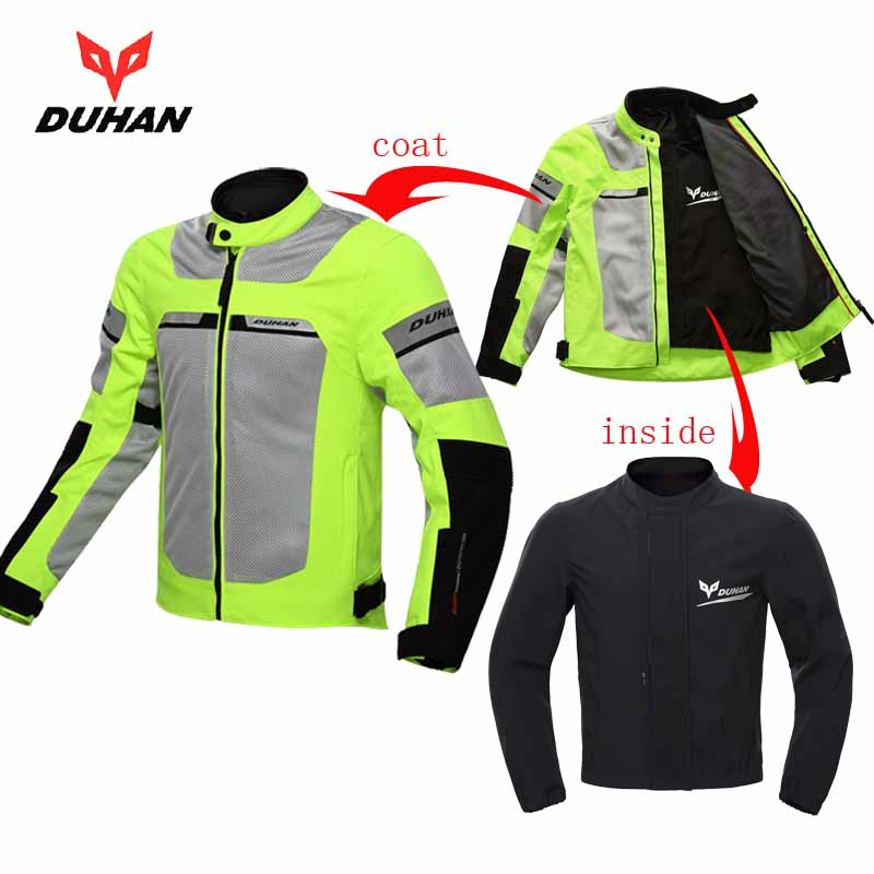 2018 Summer New DUHAN cross country motorcycle Jacket men's Moto racing jackets wrestling motorbike coat D 133 size M L XL XXL
