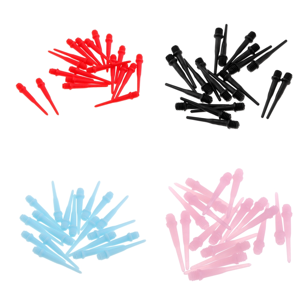 (Pack Of 20) 2BA Thread Soft Tip Dart Points For Electronic Dartboard Indoor Game Dart Boards Target Backboard Supplies