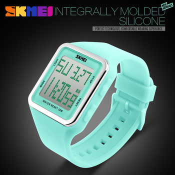 Digital Wristwatches Women Students LED Watch Fashion Casual Outdoor Girls Waterproof Sports Watches Womens Wrist Watches SKMEI