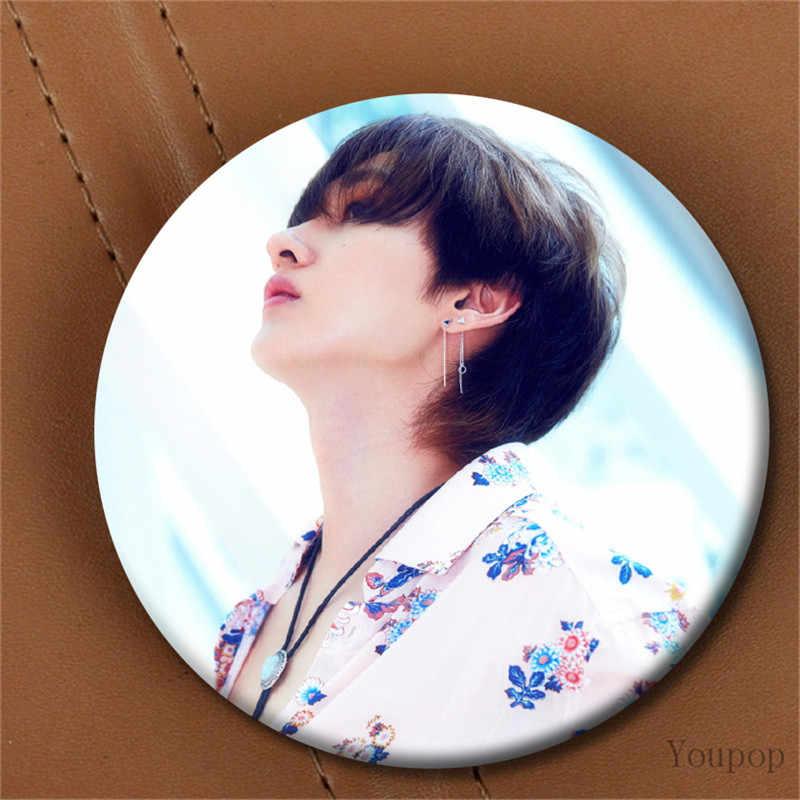 Youpop KPOP Super Junior SJ SuJu SuJr Мини альбом еще раз брошь, значок на булавке аксессуары для одежды шляпа украшение для рюкзака