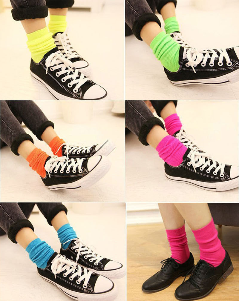 Fluorescent Candy Color Socks 5