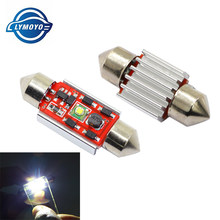 LYMOYO 1pcs Car Interior Led C5W C10W Canbus 31/36/39/41mm Dome Festoon Light Decorative License Plate reading Door Light(China)