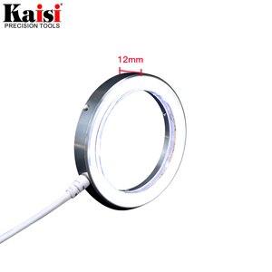 Image 4 - Kaisi سامسونج 60 LED قابل للتعديل مصباح مصمم على شكل حلقة إضاءة مصباح ستيريو مجهر تكبير USB التوصيل