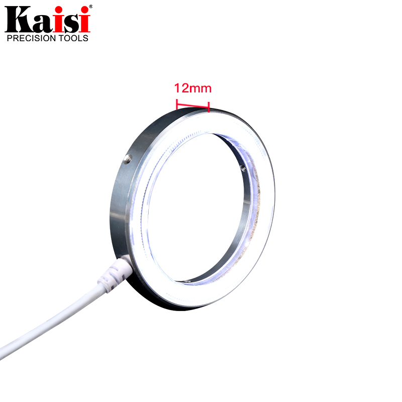 Image 4 - Kaisi Ultrathin 60 LED Adjustable Ring Light illuminator Lamp For STEREO ZOOM Microscope USB Plug-in Microscopes from Tools