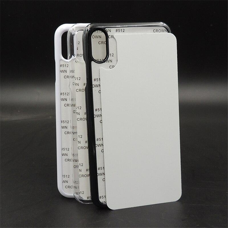 10 шт. новый 2D сублимационный пустой пластиковый жесткий чехол для iPhone X Xs max XR алюминиевая пластина вставка
