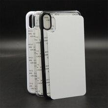 Personalizado 2d sublimação em branco caso de plástico capa dura para o iphone x xs xs max xr placa de alumínio inserção transferência calor 10 pçs