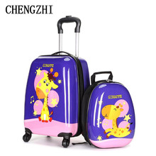 Rolling-Luggage-Set Spinner Travel Suitcase Carry-On Kids CHENGZHI for 18--Inch
