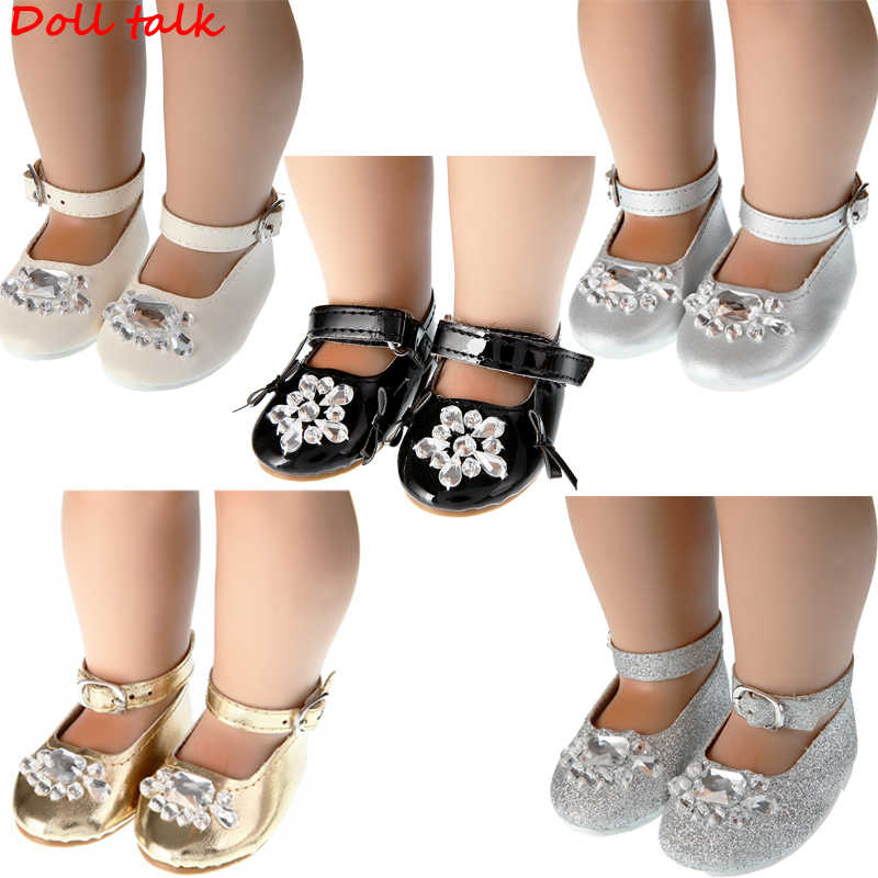 DollTalk 2019 Newest Arrival Crystal Doll Shoes Shoes For 18 Inch BJD Toy Mini Doll Shoes for Sharon Doll Boots Doll Accessories